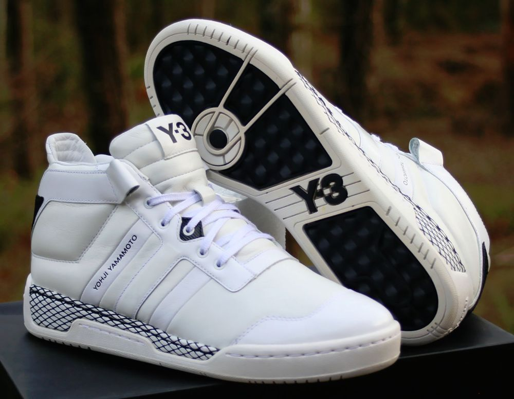 8f4837a3e Adidas Y3 Courtside Yohji Yamamoto High-top Trainers Size 10 White  V22231-100  Y3  AthleticSneakers
