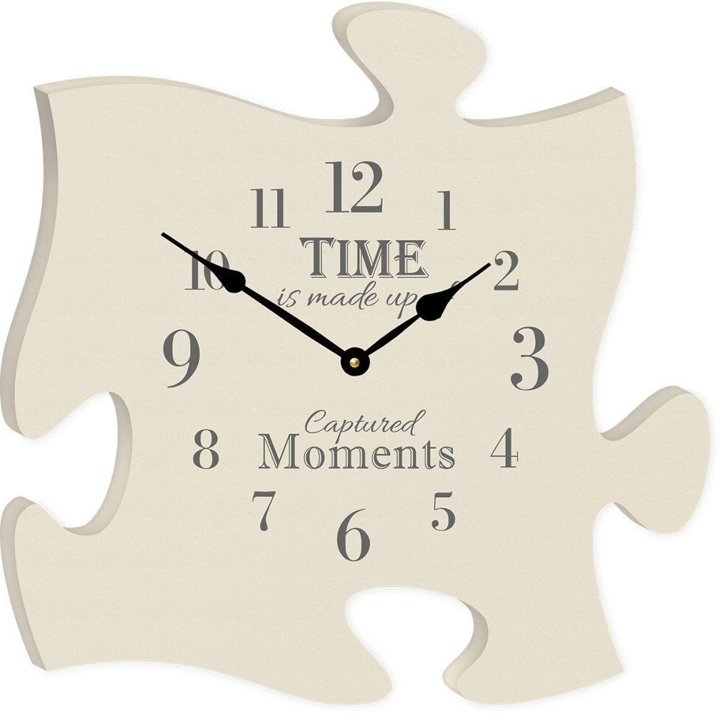 The Time Clock Puzzle Piece Diy Clock Puzzle Frame Clock