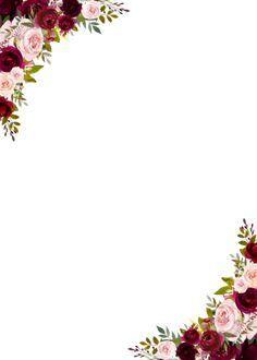 Chic Rustic Burgundy Marsala Floral Wedding Invita