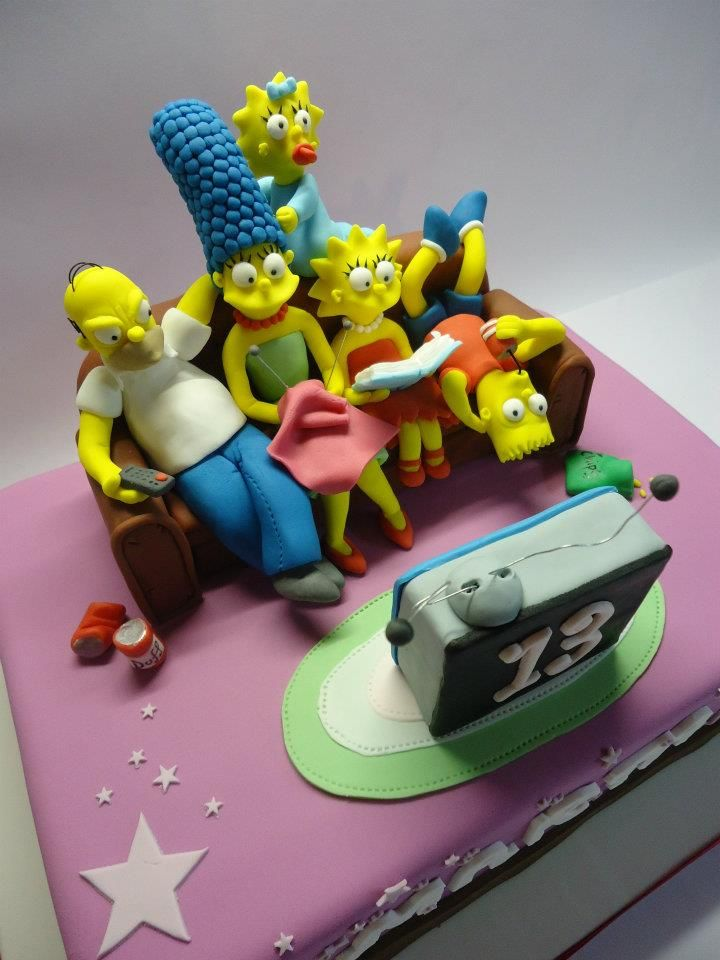 Simpsons Cake Simpsons Party Pinterest Cake Amazing