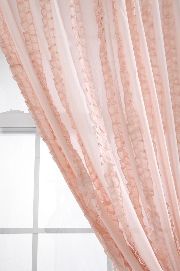 Ruffle window curtain - Shop Tuxedo Ruffle Curtain At Urban Outfitters Today