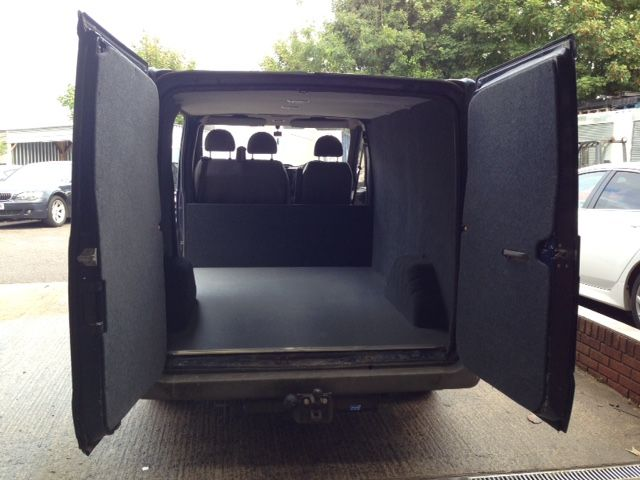 Ford Transit van conversion completed  Carpeting, ply lining