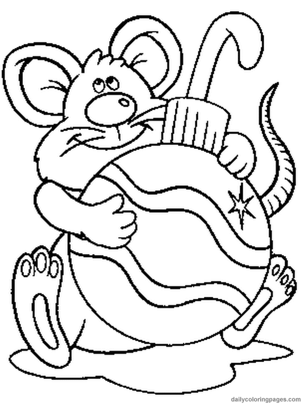 Mouse Holding On To Ornament Coloring Page Christmas Coloring Books Free Kids Coloring Pages Coloring Pages