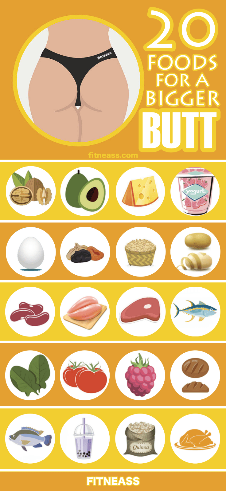 20 Healthy Foods That Help You Build A Bigger Butt