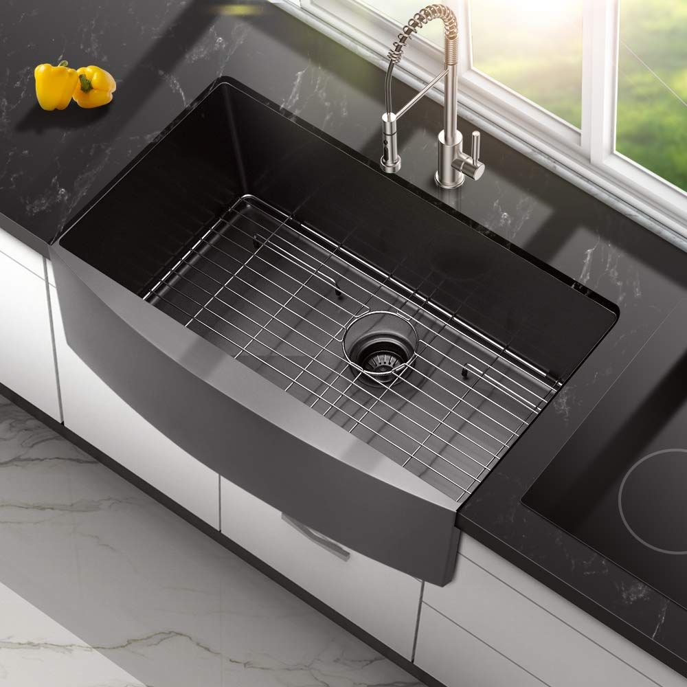 Best Black Farmhouse Sinks We Love Black Apron Front Sinks And All Sorts Of Farmhouse Sinks In Your Kitchen In 2020 Black Farmhouse Sink White Farmhouse Sink Sink