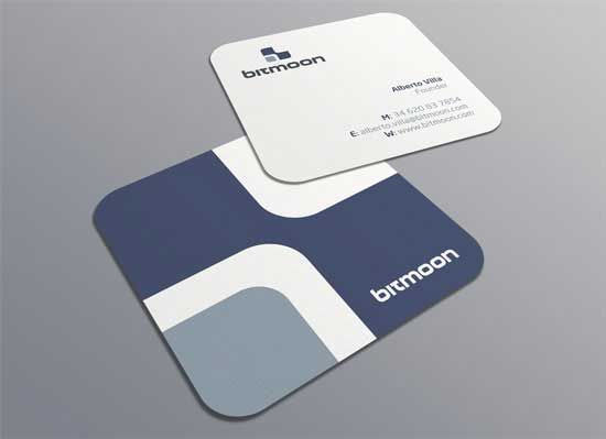 Mini Square Business Cards With Rounded Corners