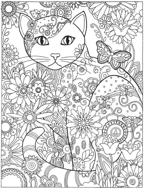 Creative Haven Cats Coloring Book