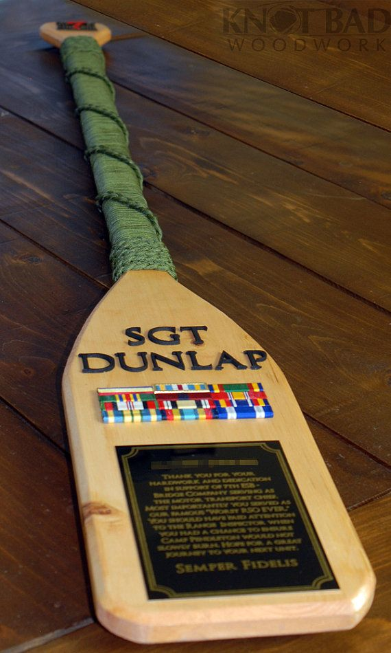 Custom Wooden Paddle/Oar Plaque by KnotBadWoodwork on Etsy