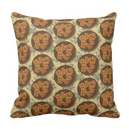 #cute - #Bagel 40.6×40.6 Pillow (outdoor) cushion
