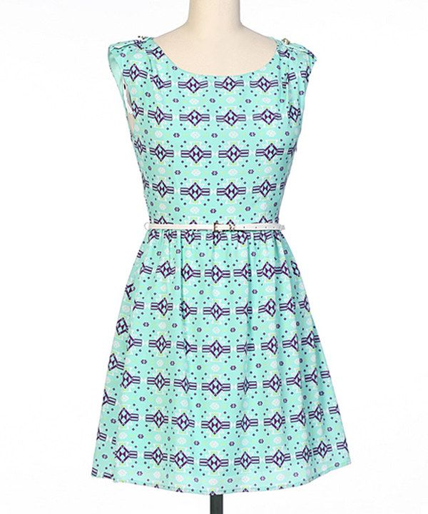 Look at this brandon & ashley Purple & Mint Cap-Sleeve A-Line Dress on #zulily today!