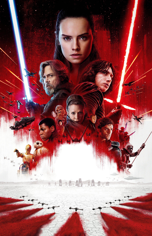 Star Wars Episode VIll 2017 The Last Jedi Movie Poster Canvas Art Print Sc-Fi