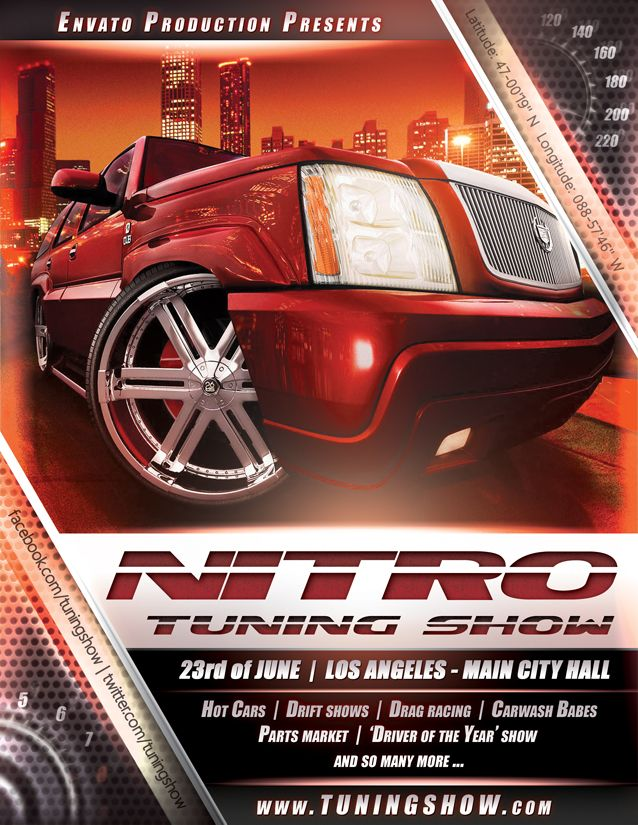 Nitro Tuning Show Flyer By Naranch  Automotive