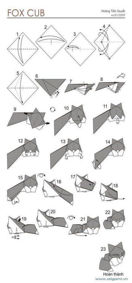 Photo of 42 Trendy Origami Tutorial Animal Easy #origamianleitungen