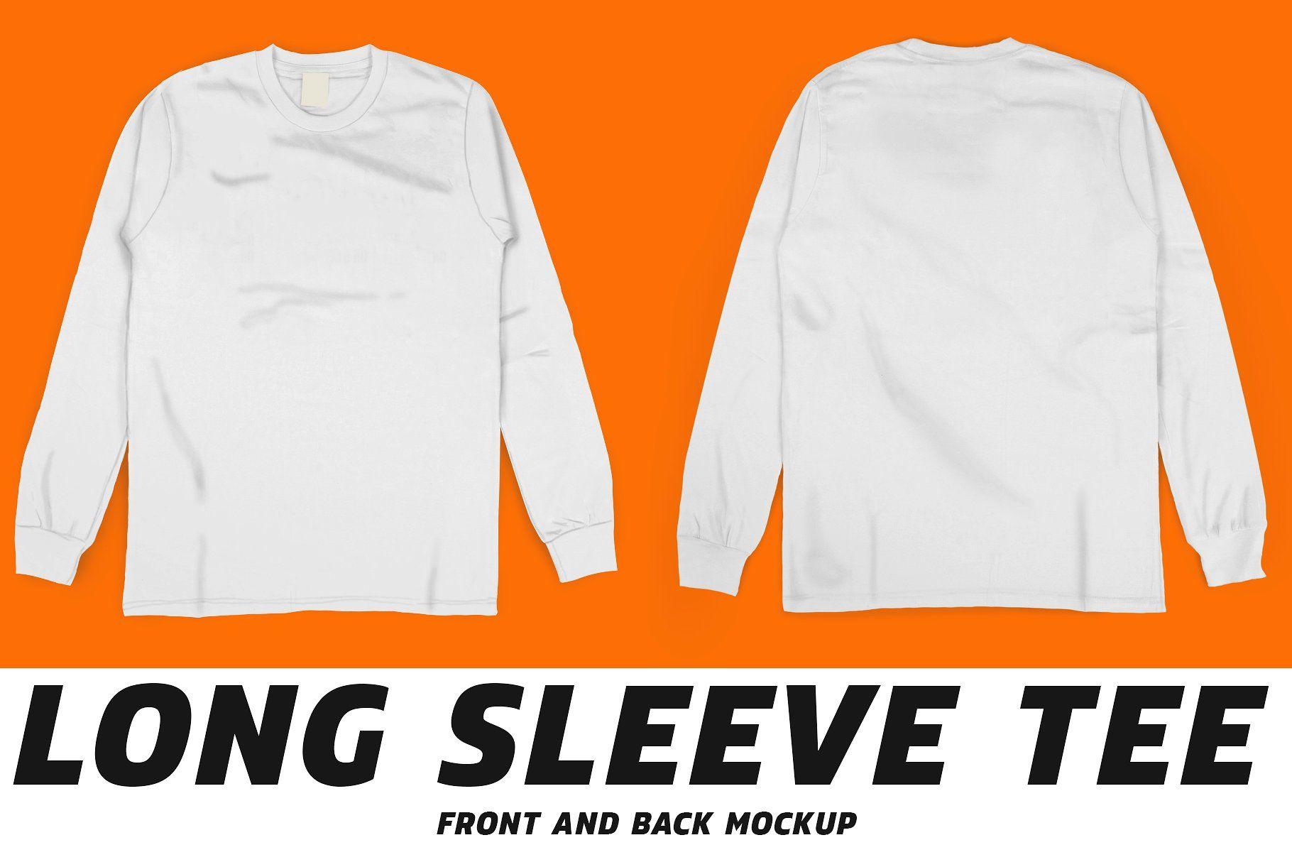 8002+ Long Sleeve T-Shirt Mockup Psd Free Photoshop File