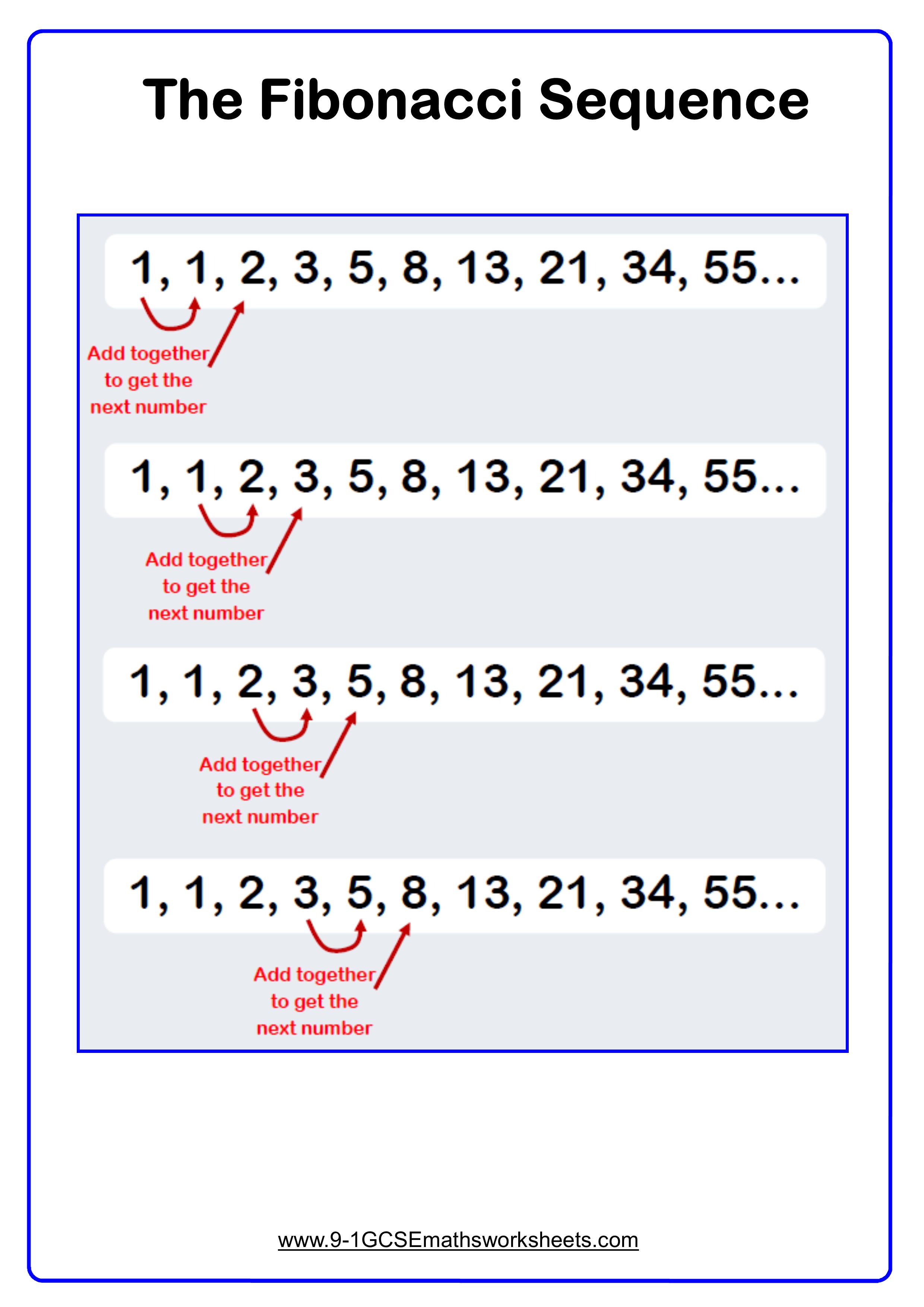 Fibonacci Sequence Example Math Examples Algebra Equations Fibonacci [ 3508 x 2480 Pixel ]