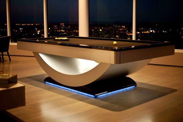 A very uniquely designed pool table. | Billiards | Pinterest ...