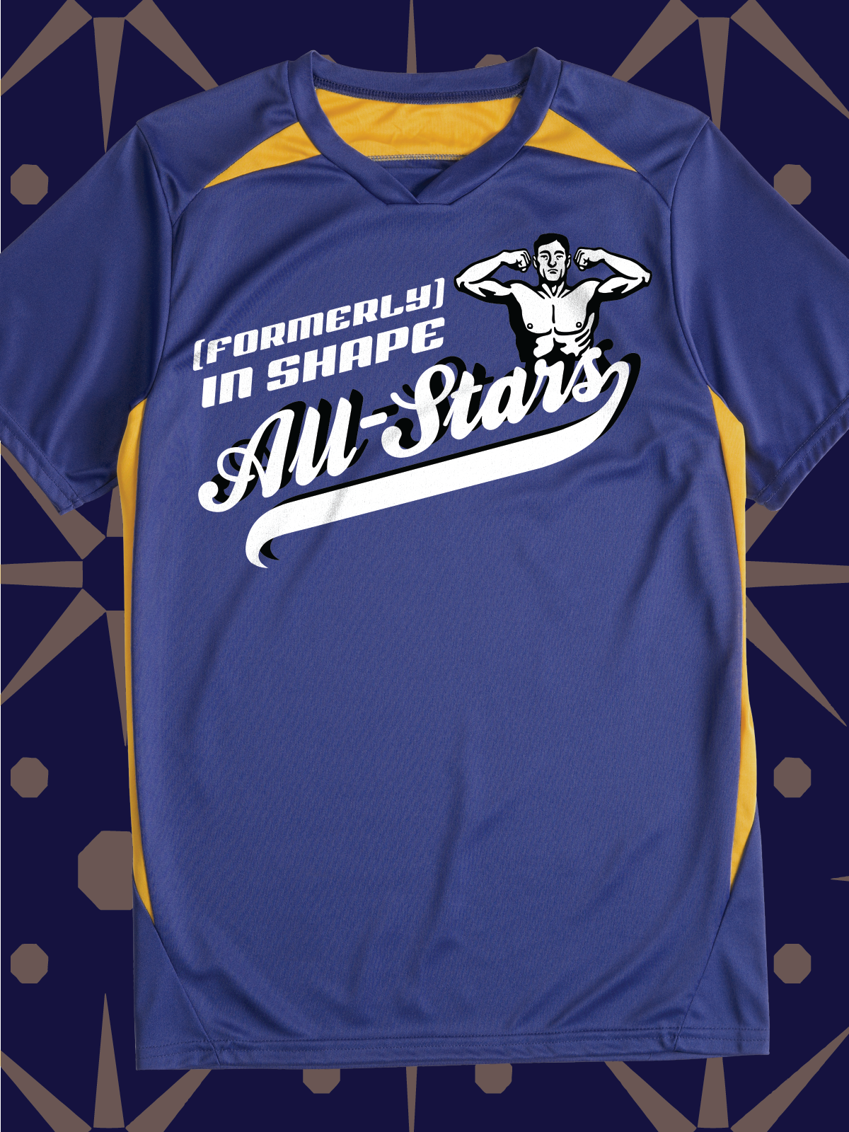 Formerly In Shape All Stars Funny Design Idea For Sports Team League Shirts Jerseys Hoodies Bags Water Bottles Team T Shirts Shirt Designs Tshirt Designs