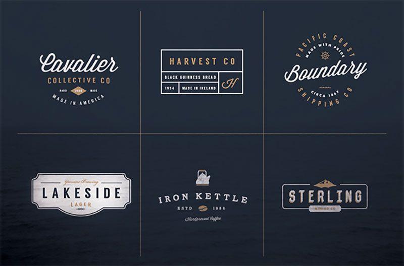 vintage logo kit logo templates pinterest logo templates
