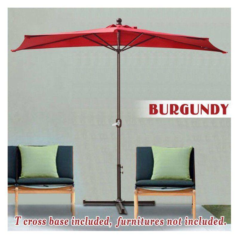 sunrise umbrella 10 ft lighted half aluminum patio umbrella with