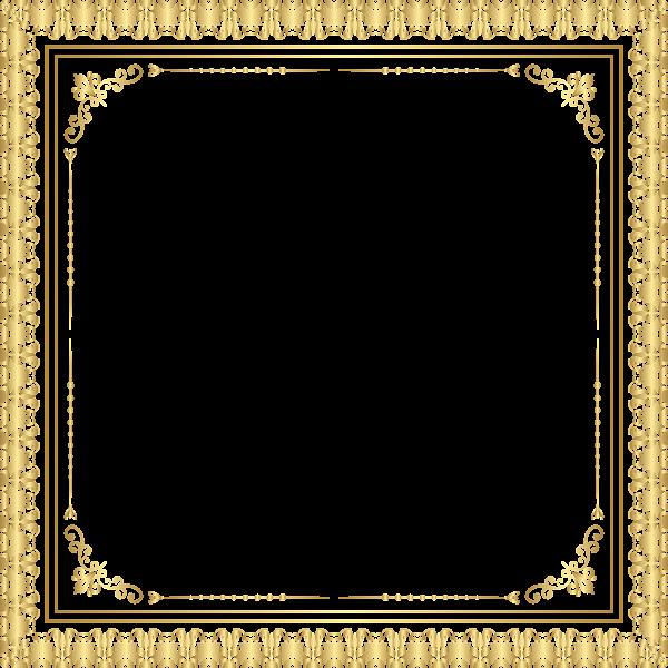 Border Frame Deco Transparent Clip Art Image | Frames | Pinterest ...