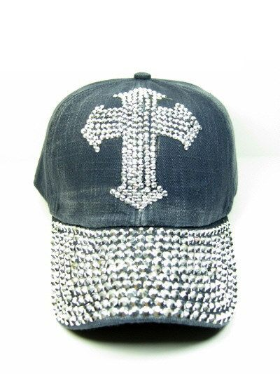 af52e62cf30 Black Blue or Cream Beige Cross Bling Rhinestone Crystal Sequin Studded  Embellished Cadet Cap Hat Bling Embellished Stretch Headwear Cadet Style  100% Cotton ...