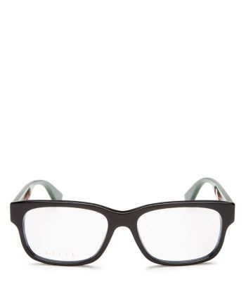 Gucci Men's Rectangle Optical Glasses, 57mm