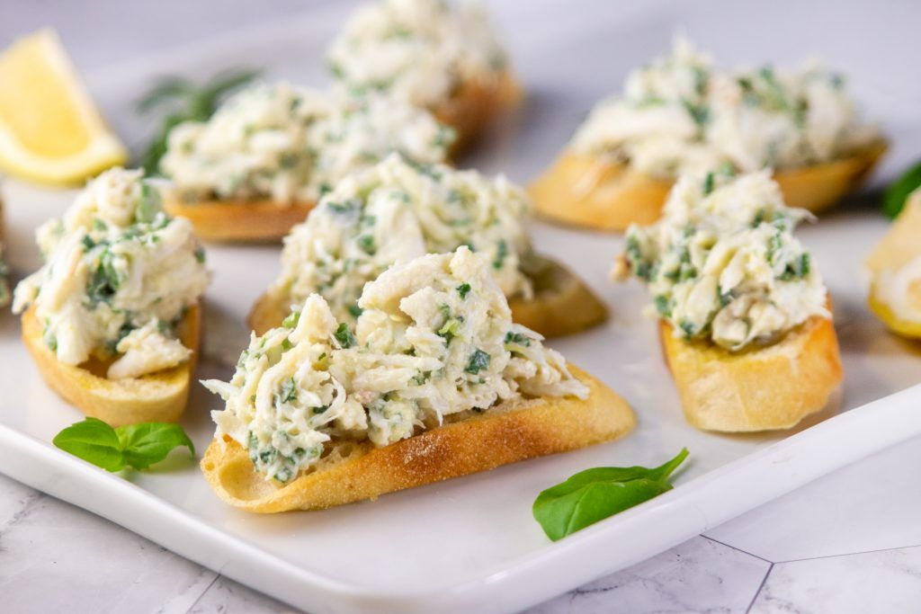 Photo of Crab Crostini with Lemon and Herbs – Giadzy