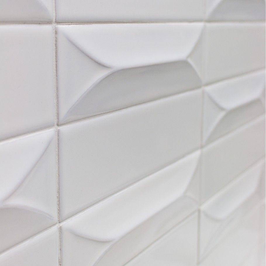 Byzantine Bianco 3d Ceramic Subway Tile In 2018 Guest Bathroon