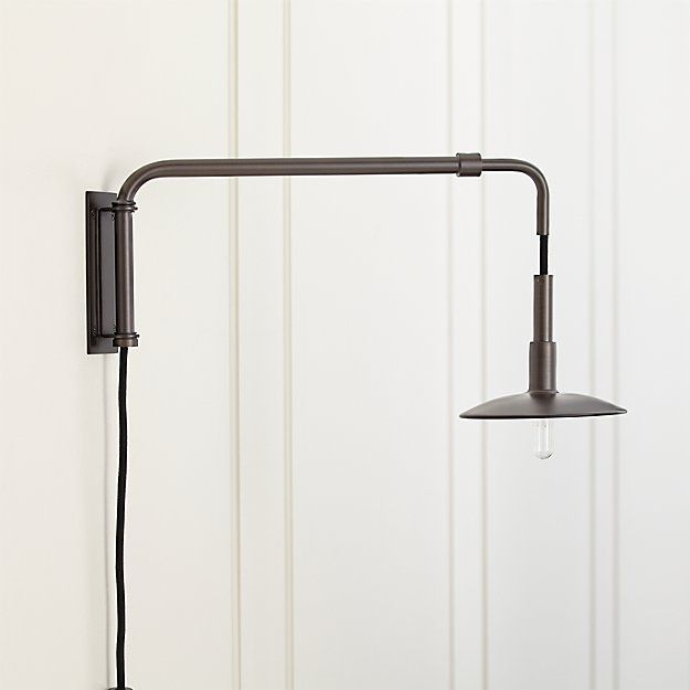Swing Arm Bronze Sconce Reviews Crate And Barrel Bronze Sconces Sconces Pulley Lamps