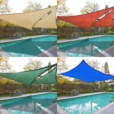 2x Sun Shade Sail Top Outdoor Canopy Patio Cover 11.5' 16.5' Triangle 18' Square