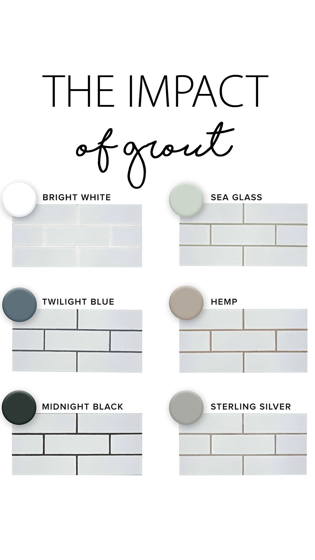 different grout colors grout color