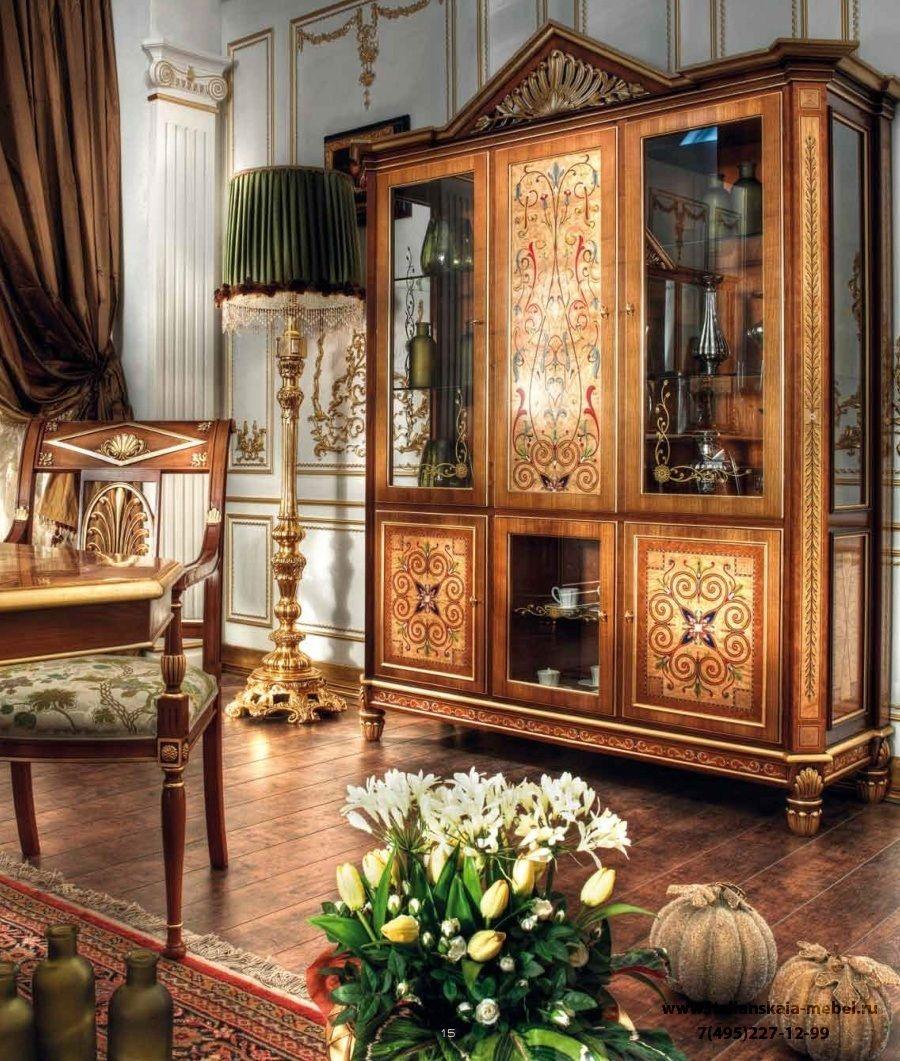 Витрина с ручной росписью коллекция Gold от Asnaghi