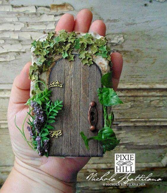 Fairy door secret garden decoden crafts pinterest for Secret fairy doors by blingderella