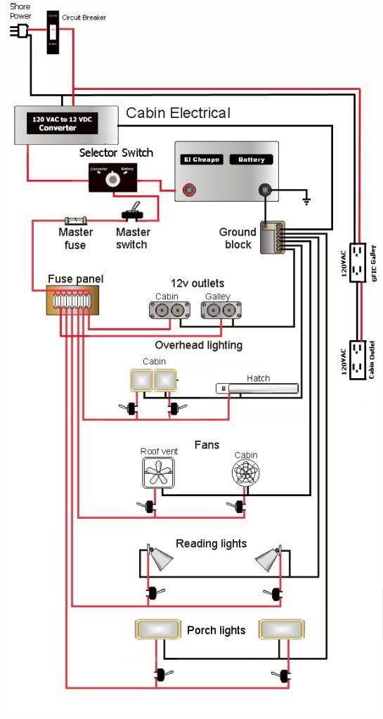 Teardrop camper wiring schematic | duane | Camper, Trailer