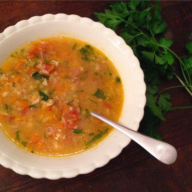 Poh Ling Yeow's summer tomato and lentil soup.