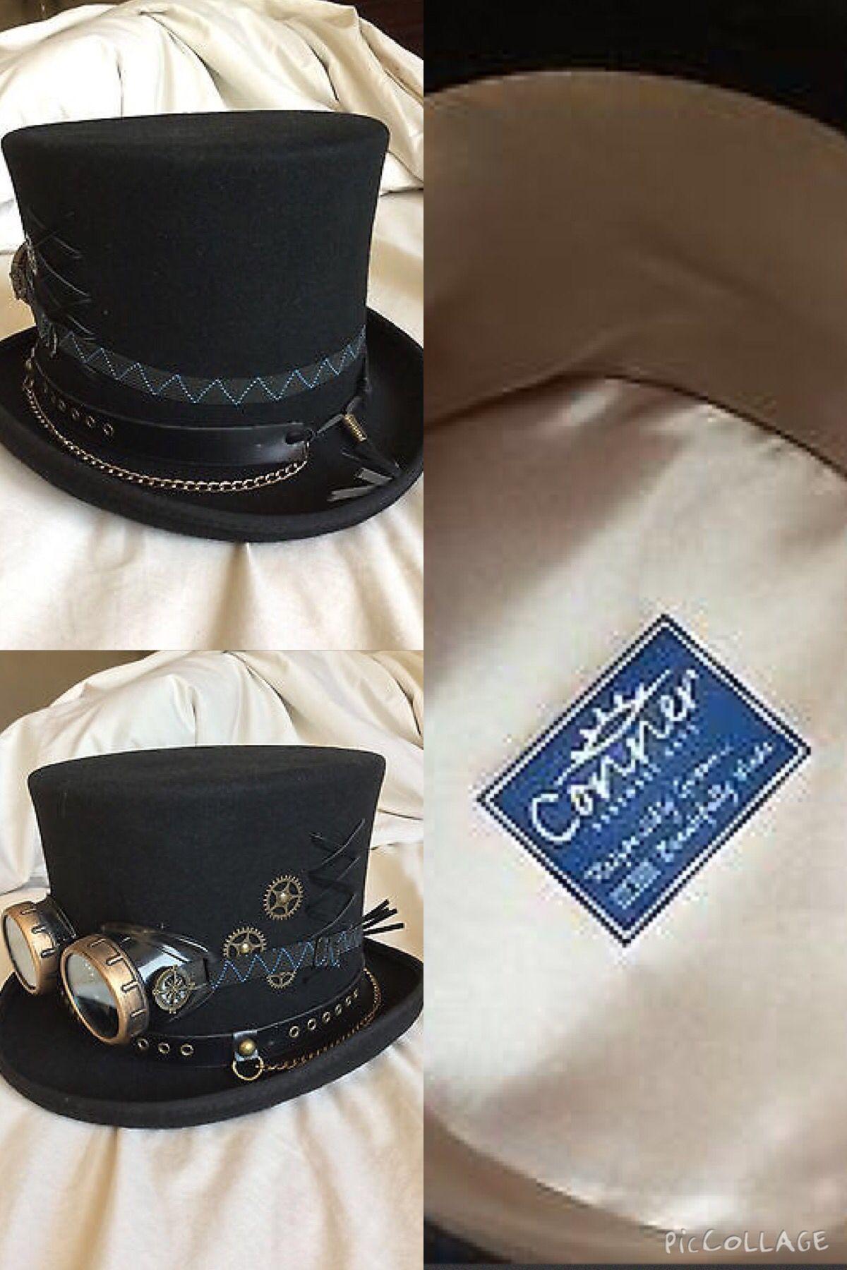 c38974581cfa6 Steampunk Victorian Top Hat W Goggkes