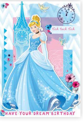 Cinderella Birthday Card Perfect For Any Princess Big Or Small