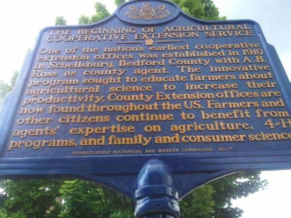 Beginning of Agricultural Cooperative Extension Service marker dedication, June 7, 2012 in Schellsburg, PA