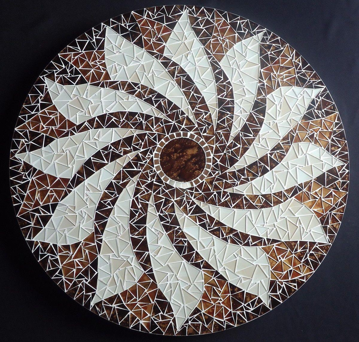 Centro De Mesa Giratorio 60 Cm Arte Em Mosaico Mosaicos