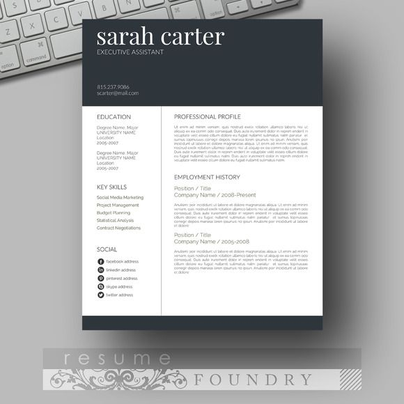 Resume Template Word Pinterest Microsoft Word Template And