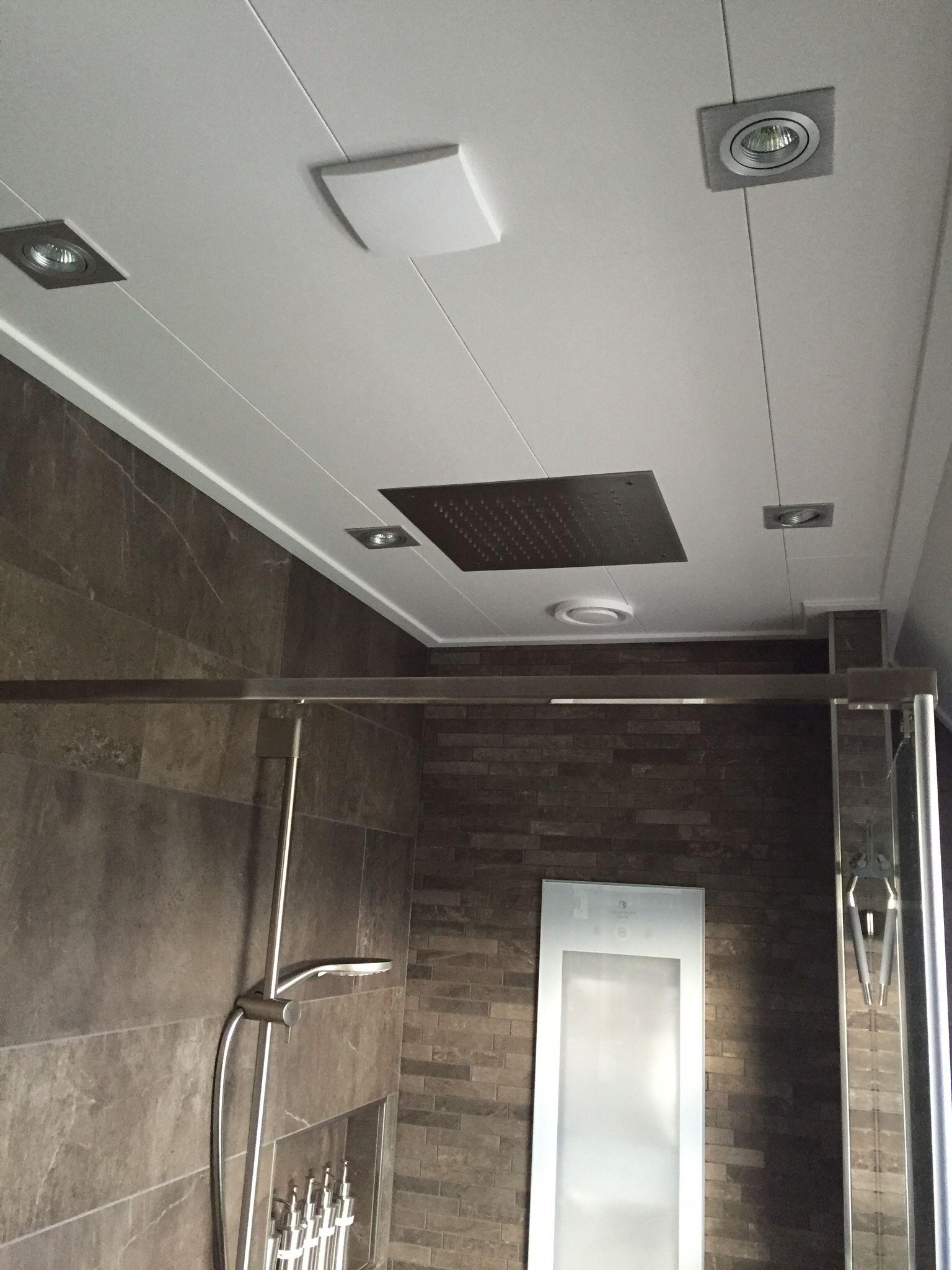 inbouw plafond douche gerealiseerde badkamers pinterest