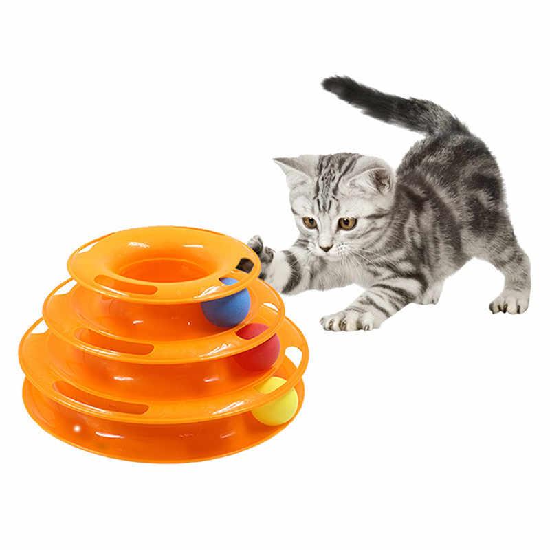 Torre De Juguete De Gato De Tres Niveles Juguete Para Gatos Disco De Diversión Para Entrenamiento De Pelota Juguetes Para Gato Aliexpress Juguetes Para Gatos Artículos Para Gatos Juguetes Para Mascotas