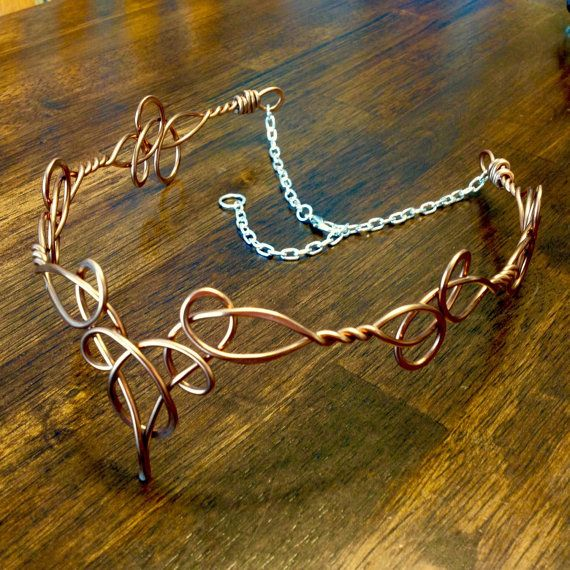 Elven Circlet TEMPLA Celtic Hand Wire Wrapped by RefreshingDesigns