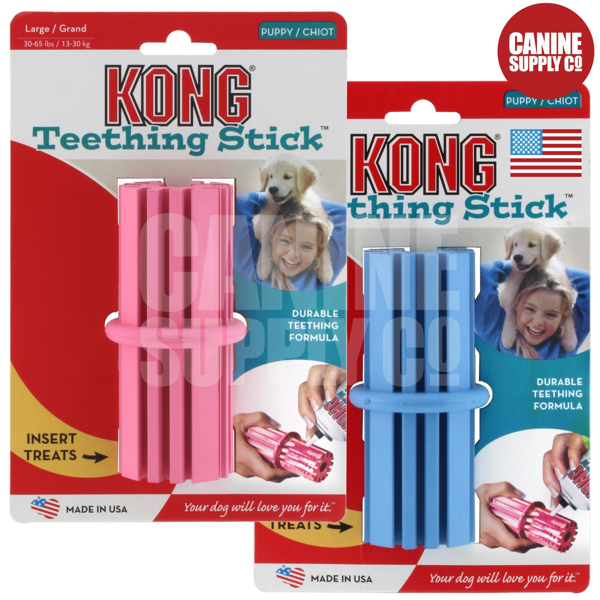 Kong Puppy Teething Stick Dog Toy All Sizes Puppy Teething