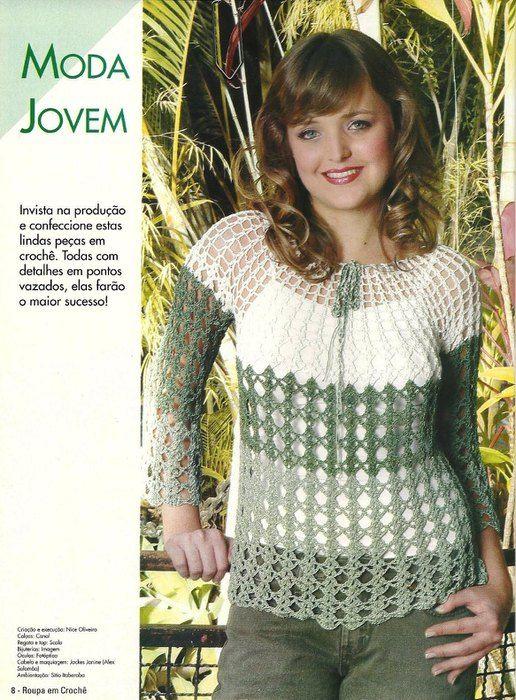 Delicadezas en crochet Gabriela: Variedad de blusas   Poleras ...