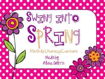 Swing into Spring Center Pack! - Alicia Coletti - TeachersPayTeachers.com