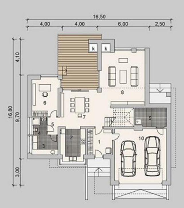 Planta baja con cochera doble casas pinterest planta for Casas modernas planta baja