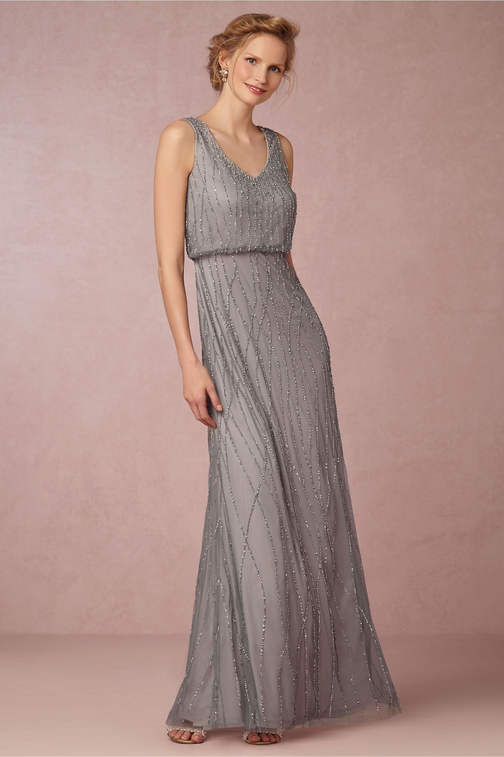 BHLDN\'s Adrianna Papell Brooklyn Dress in Slate Heather | Vestidos ...