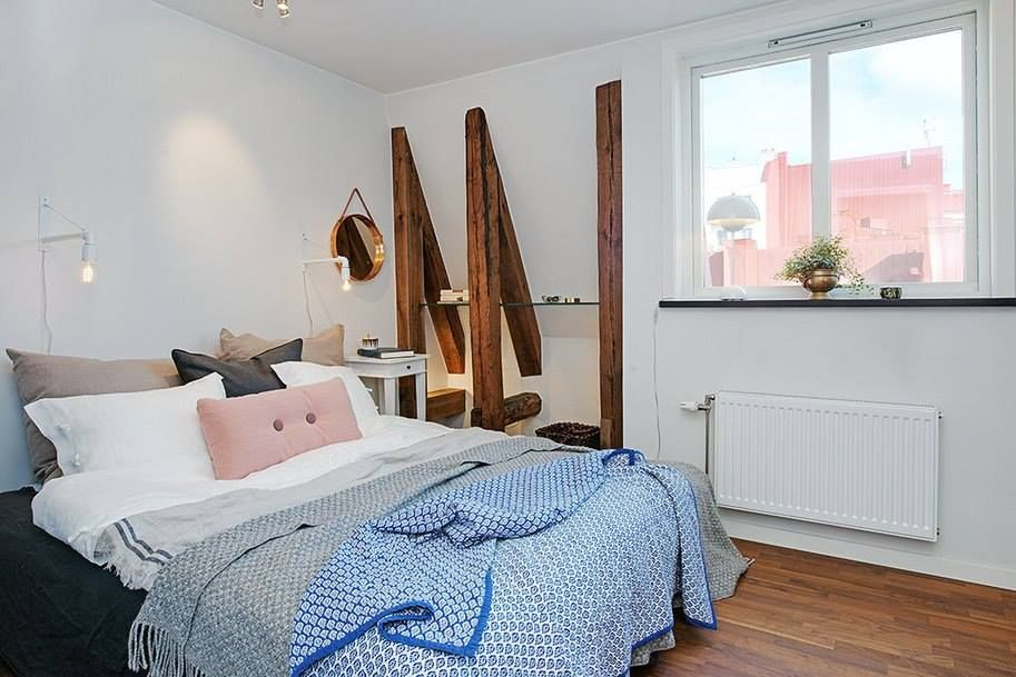 Designing Awesome Rustic Swedish Apartment in Gothenburg: Fascinating Swedish Design Bedroom With White Bed And Grey Quilt Employed For Whit. & 20479662_753583428163222_9099997042044132798_n.jpg (913×609) | Этно ...