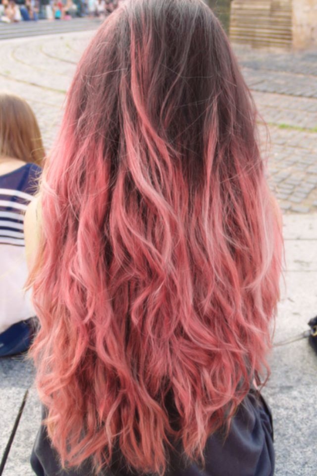 Pink and brown hair